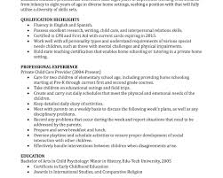 Objective For A Nanny Resume Resume Template Nanny Sampleor Job List Of Responsibilities 80