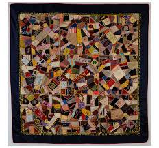 The History of The American Quilt: 19th Century - Pattern Observer & image via: Victorian Crazy Quilt c 1890 Adamdwight.com