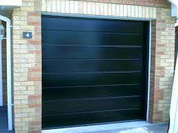 black insulated rib sectional garage door