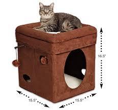 Cat House Amazoncom Midwest The Original Curious Cat Cube Cat House