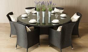 bilbao round rattan garden table and 6 chairs inspirational round rattan garden table and chairs home