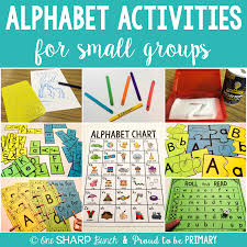 Alphabet Activities For Small Groups One Sharp Bunch