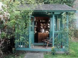 backyard home office. Backyard Turquoise Home Office