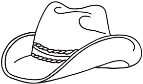 Small Picture Cowboy Hat Coloring Pages GetColoringPagescom