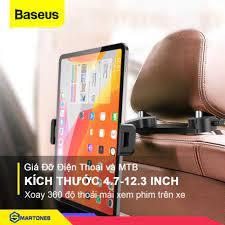 Giá kẹp điện thoại và máy tính bảng Baseus cho ghế sau xe hơi, hỗ trợ máy  từ 4.7 đến 12.3 inch - Giá đỡ - Chân đế gắn ô tô, xe máy
