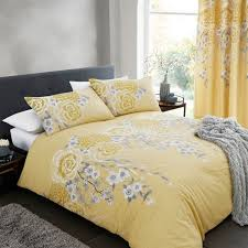 catherine lansfield cathrine lansfield oriental blossom yellow single quilt set duvet sets from boswells