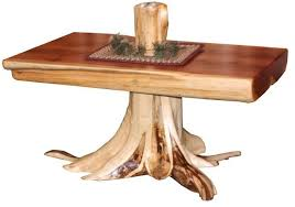 log rustic furniture amish. Amish Rustic Cedar Log Coffee Table With Stump Furniture
