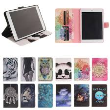 How Do I Print From My Ipad For Apple Ipad Mini 4 Cover Case Panda Owl Print Wallet Pu Leather