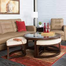 malmo coffee table with stools 1 4 pcs