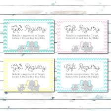 How To Make A Baby Shower Invitation On Microsoft Word Custom Registry Cards For Baby Showerregistry Cards For Baby Shower