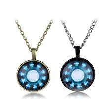 hot s iron man arc reactor glass cabochon pendnat necklace for men and women fans vdpw12854
