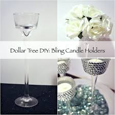 dollar candle holders how to make tree look expensive bling diy