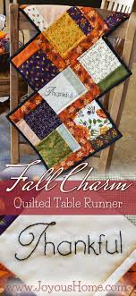 Enjoy a free pattern for my Fall Charm Quilted Table Runner using ... & Enjoy a free pattern for my Fall Charm Quilted Table Runner using Moda  Charm squares! Adamdwight.com