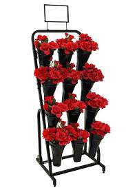 Floral Display Stands Mesmerizing 32 Vase Floral Cart Mobile Flower Shop Display Stand