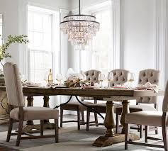 lorraine extending dining table rustic brown pottery barn
