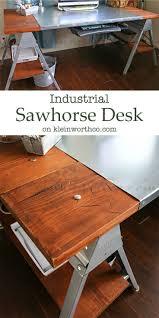 industrial furniture diy. Industrial Sawhorse Desk - Kleinworth \u0026 Co. Featured On Kenarry: Ideas For The Home Furniture Diy G