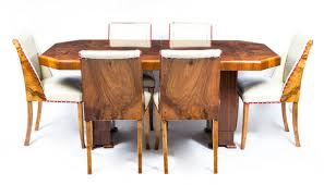 antique walnut dining table and chairs. antique art deco burr walnut dining table 6 chairs c1930 (c. 1930 england) from regent antiques - the uk\u0027s premier portal and