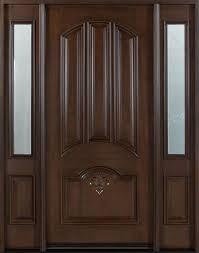 Solid Wood Front Door Designs Mahogany Solid Wood Front Entry Door Single With 2