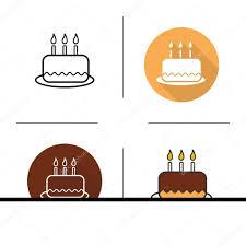 Flat Birthday Cake Designs Birthday Cake Flat Design Stock Vector Bsd 109399246