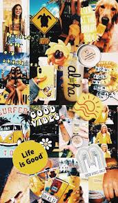 Wallpaper Yellow Aesthetic Collage