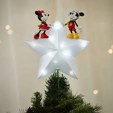 Disney Mickey And Minnie Mouse Light Up Holiday Tree Topper Disney Store Christmas 2016 Disney Christmas Tree