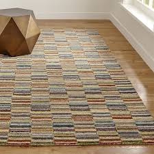 Crate And Barrel Kitchen Rugs Bix Striped Wool Rug Rugs Wool And Crate And Barrel
