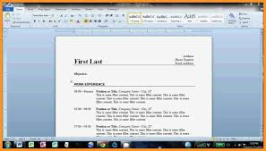 How To Make Resume On Microsoft Word Bio Letter Format