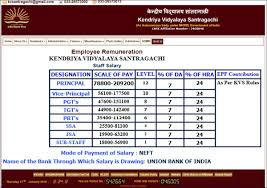 Kvs Recruitment 2019 Pay Scale And Salary Structure For Prt