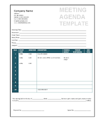 40 Effective Meeting Agenda Templates Template Lab Inspiration Meetings Template