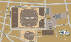 Wrestlemania Superdome Seating Chart Mercedes Benz Superdome New Orleans La Seating Chart View