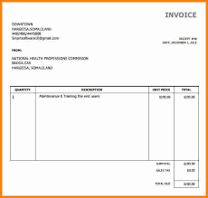 Invoice Simple 10 Example Of A Simple Invoice Penn Working Papers