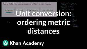 Centimeters To Decimeters Conversion Chart Metric Unit Conversions Distance Video Khan Academy