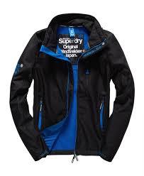 superdry windtrekker jacket superdry men black royal blue superdry
