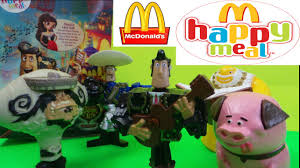 top 5 mcdonalds kids happy meal the book of life surpise toy openings