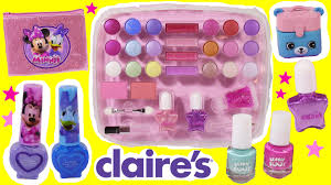 claire 39 s makeup palette. kid\u0027s makeup palette case! minnie mouse lip gloss! beanie boos nail kit! fake shopkins! - youtube claire 39 s a