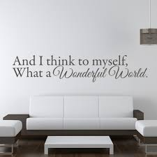 louis armstrong wall sticker what a wonderful world wall decal bedroom decor