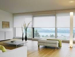blinds for living room. white roller blinds in an ultra-modern living room. for room