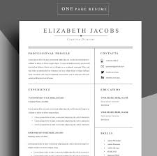Resume Template Cv Template Professional Resume Template