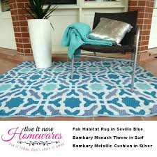 fab habitat rugs blue indoor outdoor floor rug plastic