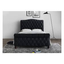 Denver Grey Or Black Velvet King Size Bed Frames | Multi Coloured ...
