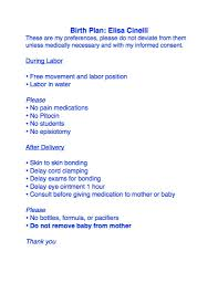 Natural Birth Plan Template My Birth Plan Childbirth Pinterest Birth Birth Plan Sample
