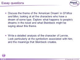 of mice and men essay on dreams co of mice and men essay on dreams of mice and men section six ppt video online of mice and men essay on dreams