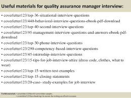 top  quality assurance manager cover letter samples       useful materials for quality assurance