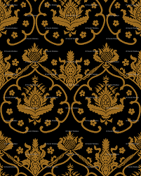 gothic damask cologne gold and black giftwrap peacoquettedesigns spoonflower