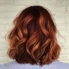Shoulder Grazing Copper Coated Wavy Locks Hairstyles Pinterest