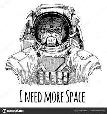 бульдог астронавт скафандр рука нарисованные изображения льва для