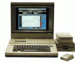 apple 2e. apple iie system, with color monitor, unidisk 3.5, 5.25, and mouse 2e