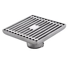 Kitchen Floor Drain V331 Square Shower Floor Drain With Removable Strainer Stainless