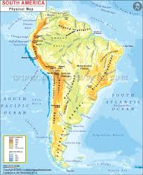 South America Physical Map Physical Map Of South America
