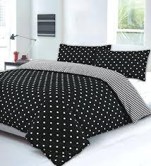 spotty duvet cover black polka dot bedding and white comforter car gray pink double full